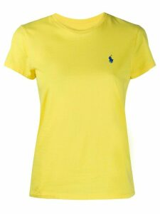 Polo Ralph Lauren logo embroidered slim-fit T-shirt - Yellow