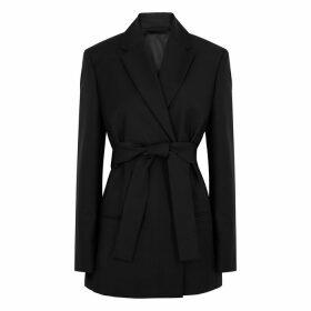 Acne Studios Jannie Black Belted Wool-blend Blazer
