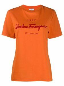 Salvatore Ferragamo logo-print T-shirt - ORANGE
