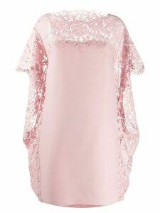 Valentino lace cape shift dress - PINK