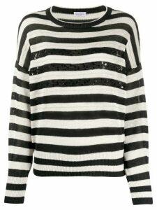 Brunello Cucinelli striped knit jumper - White