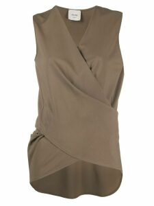 Alysi wrap sleeveless top - Grey