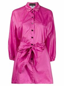 Talbot Runhof Bailey belted shirt - PINK