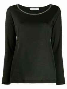 Fabiana Filippi bead-embellished T-shirt - Black