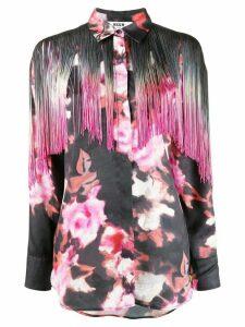 MSGM fringed-yoke floral-print shirt - PINK
