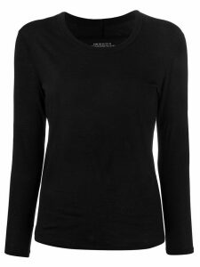 Zucca fine knit scalloped detail top - Black