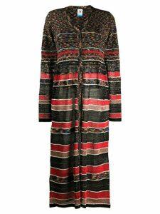 M Missoni contrast pattern glitter detail cardigan - Black