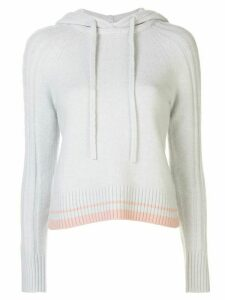 DUFFY cable knit hoodie - Grey