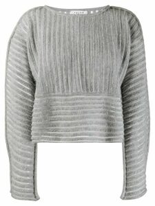 Falke textured panel jumper - Grey