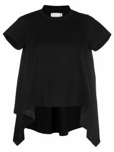 Sacai asymmetric T-shirt - Black