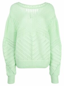Barrie perforated jumper - Green