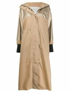 Moncler single-breasted raincoat - NEUTRALS