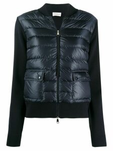 Moncler short quilted zipped jacket - Blue