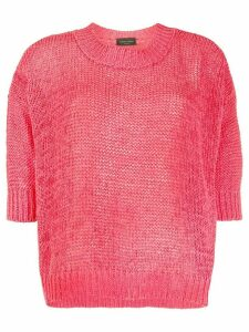 Roberto Collina dropped shoulder cotton blend jumper - PINK