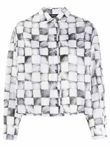 Diesel checked boxy shirt - White