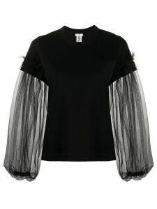 Comme Des Garçons Noir Kei Ninomiya sheer sleeve sweatshirt - Black