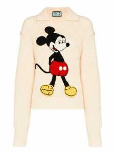 Gucci x Disney Mickey Mouse embroidered jumper - White