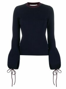 Victoria Beckham drawstring sleeves jumper - Blue