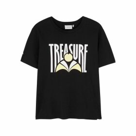 Gestuz Treasure Printed Stretch-cotton T-shirt