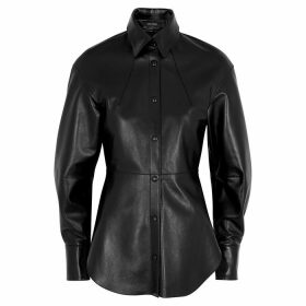 Isabel Marant Xiao Black Leather Blouse