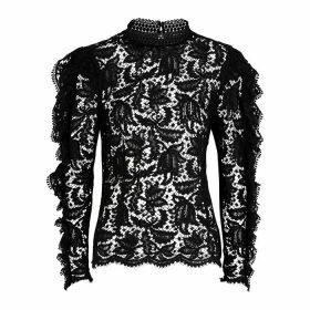 Isabel Marant Tory Black Lace Blouse