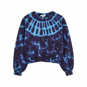AGOLDE Blue Tie-dyed Cotton Sweatshirt