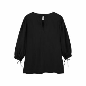 Jil Sander Black Poplin Top