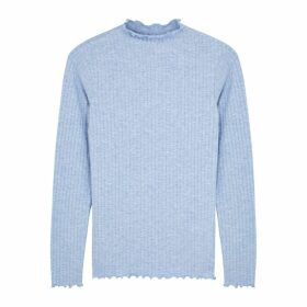 Mads Nørgaard Trutte Light Blue Stretch-jersey Top