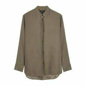 Rag & Bone Anderson Brown Silk Shirt