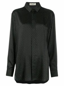 Saint Laurent studded button-up shirt - Black