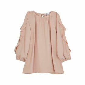 RED Valentino Pink Ruffle-trimmed Blouse