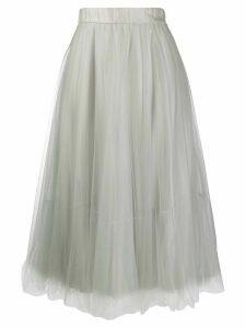 Fabiana Filippi tulle A-line skirt - Grey