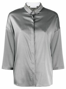 Fabiana Filippi rhinestone neckline loose-fit shirt - Grey
