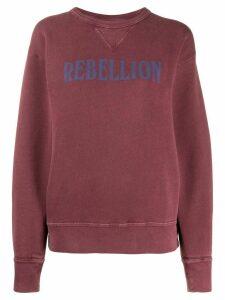 Isabel Marant Étoile Rise slogan sweatshirt - PINK