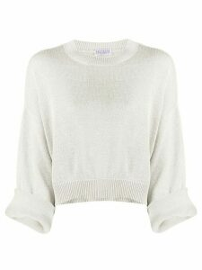 Brunello Cucinelli lurex crew neck jumper - SILVER