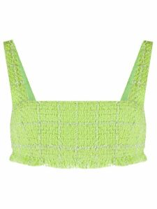 Brognano frayed twill top - Green
