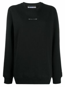 1017 ALYX 9SM graphic-print crew neck sweatshirt - Black