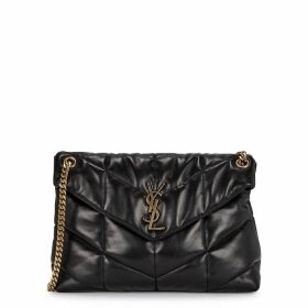 Saint Laurent Loulou Medium Black Leather Shoulder Bag