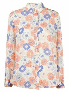 Kenzo floral print long-sleeved shirt - White