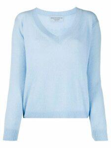Ermanno Scervino fine knit V-neck jumper - Blue