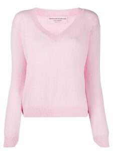 Ermanno Scervino fine knit V-neck jumper - PINK