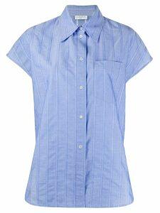Sandro Paris oversized striped shirt - Blue