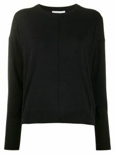 Closed round neck jumper - Black