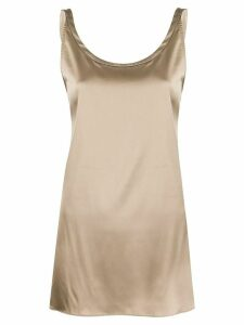 Brunello Cucinelli asymmetric metallic top - NEUTRALS
