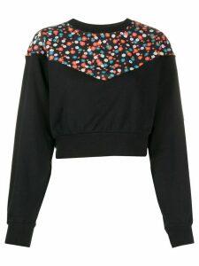 Nike floral-print cropped sweatshirt - Black