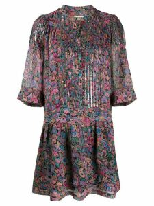 Zadig & Voltaire paisley-print flared dress - PINK