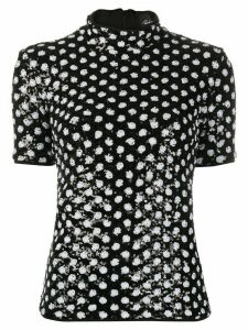 Richard Quinn polka dot sequin blouse - Black