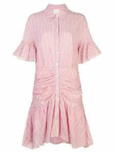 Cinq A Sept rushed striped dress - PINK