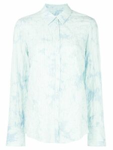Cinq A Sept long sleeve bleached striped shirt - Blue