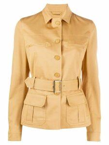 Alberta Ferretti belted single-breasted jacket - NEUTRALS